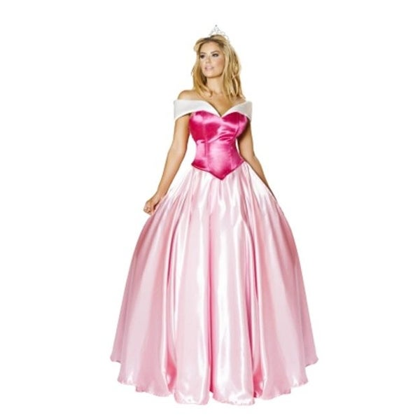 ac2189a8f8322 3 Piece Beautiful Princess Adult Costume, Pink - Large