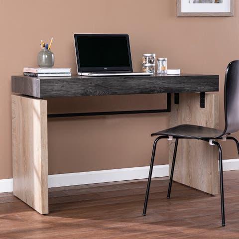 Carbon Loft Hesperian Transitional Wood Black Desk