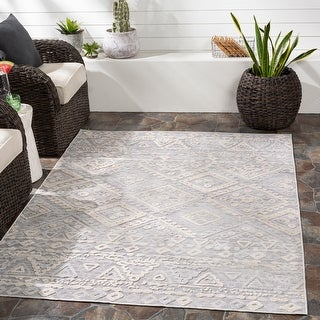 Link to Lynnie Indoor/ Outdoor Southwestern Area Rug Similar Items in Rugs