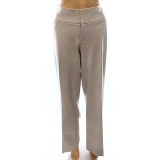 INC NEW Beige Women's Size 14X32 Wide Leg Curvy Fit 4-Pocket Pants