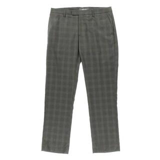 Kenneth Cole Reaction Mens Super Slim Fit Glen Plaid Dress Pants - 34/34