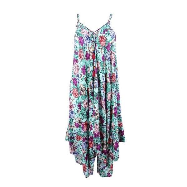 Jessica Simpson Women's Handkerchief-Hem Cover-Up Dress - Mint
