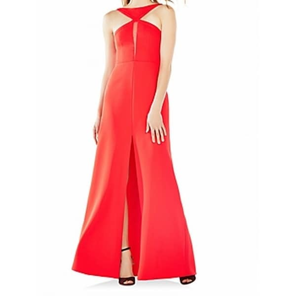 Shop BCBG Max Azria NEW Red Womens Size 2 Mesh-Cutout Slit Gown ...