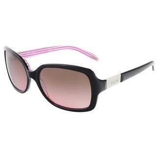 Ralph Lauren RA 5130 109214 Black/Pink Stripe Rectangular Sunglasses