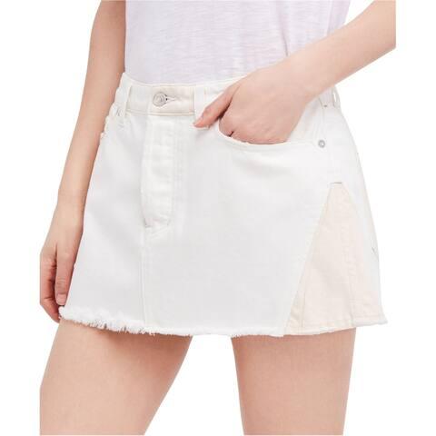 Free People Womens Frayed Hem Mini Skirt