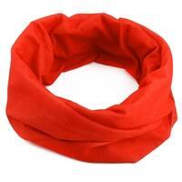 Spandex Elastic Scarf Seamless Neck Tube Stretchy Headband Face Mask Orange