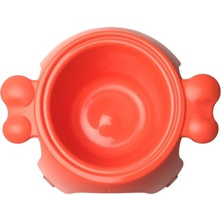 Orange - Petego Yoga Raised Pet Bowl-Large