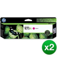 HP 971XL High Yield Magenta Original Ink Cartridge (CN627AM)(2-Pack)