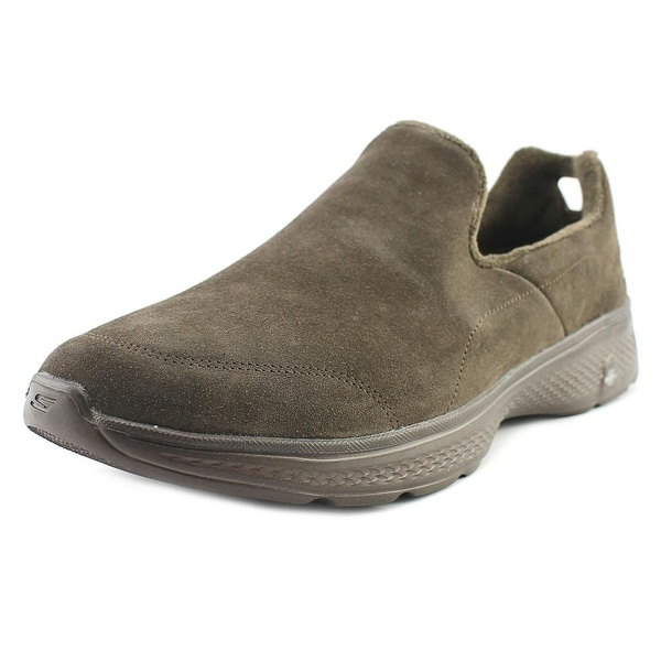 Skechers GoWalk 4 - Capacity Men Round Toe Synthetic Brown Walking Shoe
