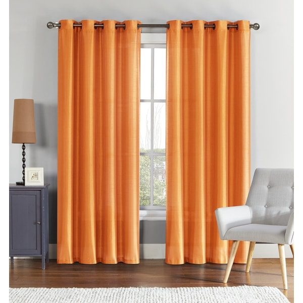 """VCNY Home Preston Faux Silk Curtain Panel - 52"""" x 90"""". Opens flyout."""