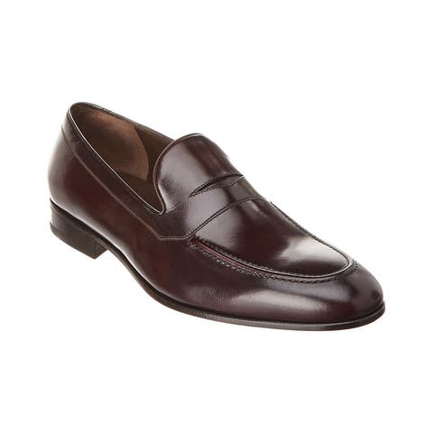 Salvatore Ferragamo Flint Leather Loafer