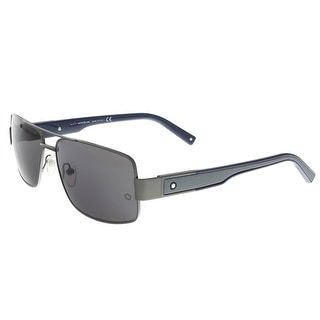 Montblanc MB460S 08A Black Rectangle Sunglasses - 61-15-140