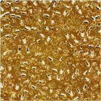 Toho Round Seed Beads 11/0 22 'Silver Lined Lt Topaz' 8 Gram Tube