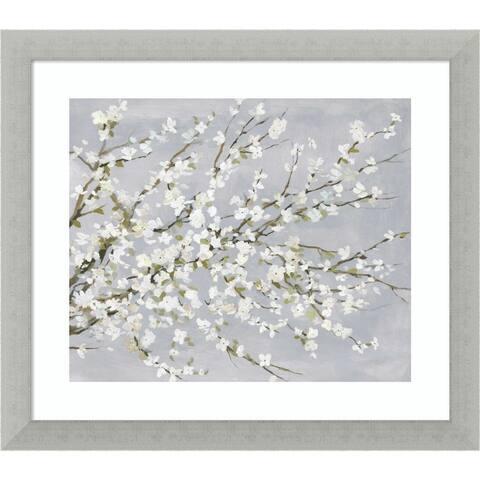 White Blossoms by Asia Jensen Framed Wall Art Print