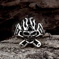 Vienna Jewelry The Original Death Skull Stainless Steel Ring - Thumbnail 3