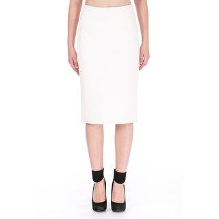 Cushnie et Ochs Womens Leather Fishnet Stamped Pencil Skirt - 6