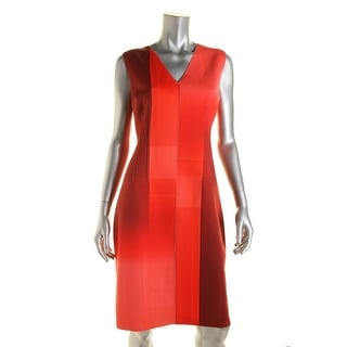 Elie Tahari Womens Reversible Sleeveless Cocktail Dress