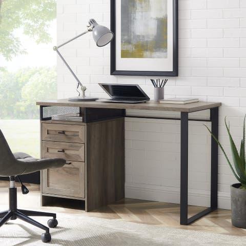 Carbon Loft 48-Inch 3-Drawer Writing Desk