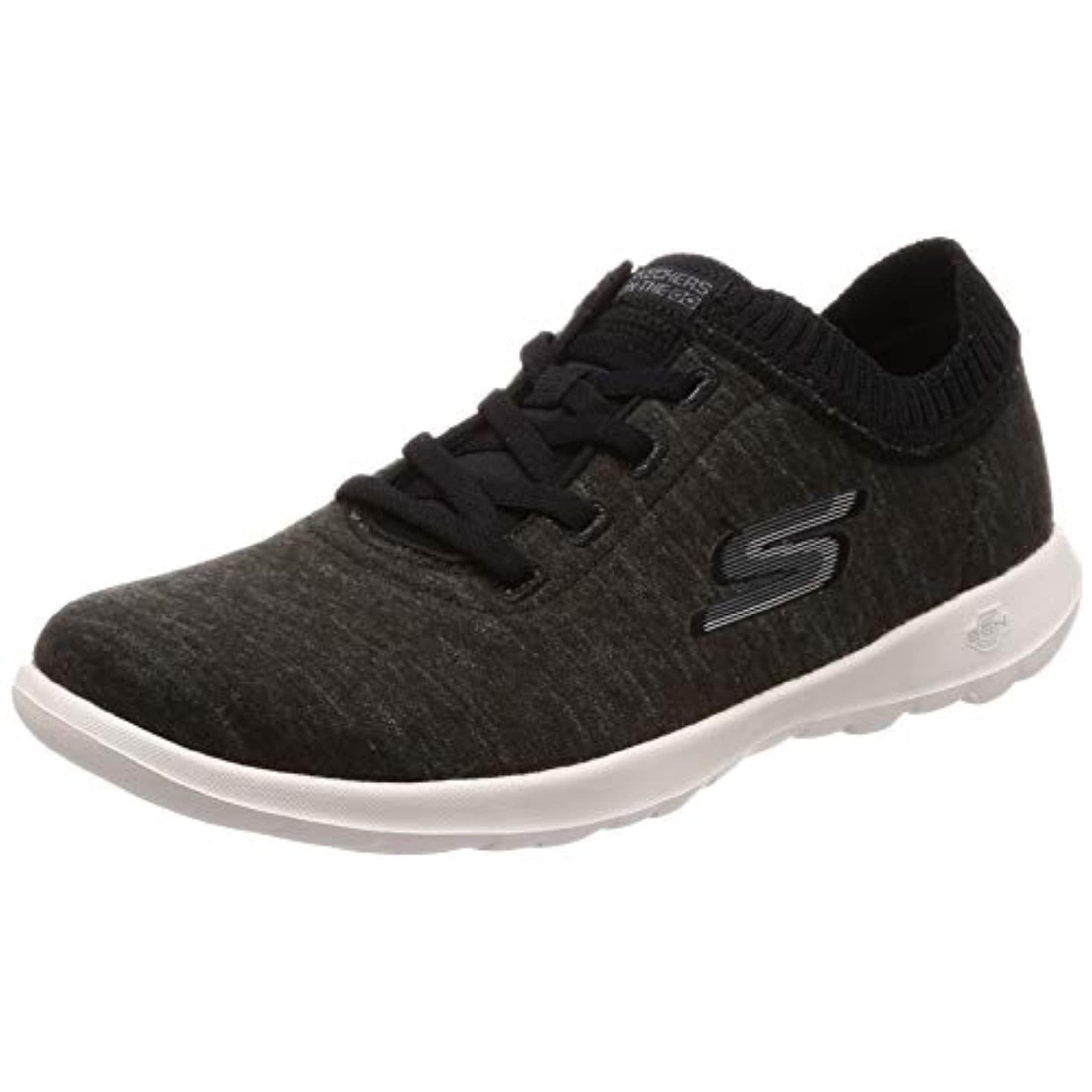 Go Walk Lite Floret Sneaker, Black