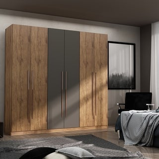 Link to Gramercy Modern Freestanding Wardrobe Armoire Closet Similar Items in Bedroom Furniture