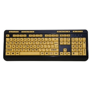 Easy Touch 132 Luminous Large-Print Desktop Keyboard