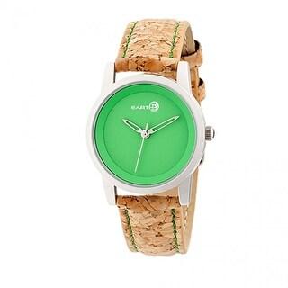 Earth Wood Canopies Unisex Quartz Watch, Genuine Leather Band