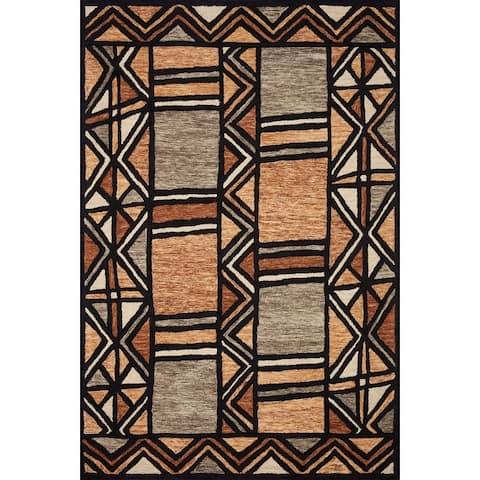Alexander Home La'akea Hand-Tufted Modern Tribal Area Rug