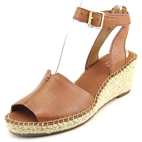 71659b299f7 Shop Clarks Artisan Petrina Selma Women Open Toe Leather Tan Wedge ...