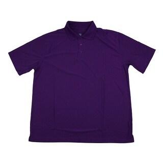 PGA TOUR Men's Polo Shirt - Plum Solid - 2X Large
