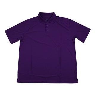 PGA TOUR Men's Polo Shirt - Plum Solid - 3X Large