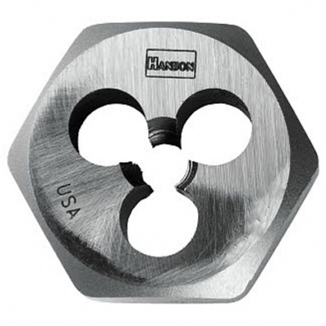 Irwin Tools 9712 Hanson High Carbon Steel Hexagon Metric Die, 3 mm - 0.5