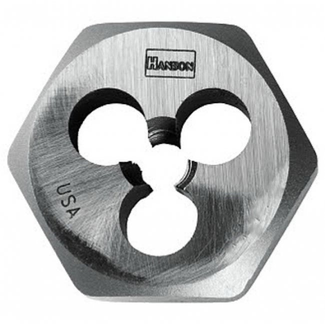 Irwin Tools 9723ZR Hanson High Carbon Steel Hexagon Metric Die, 5 mm - 0.9
