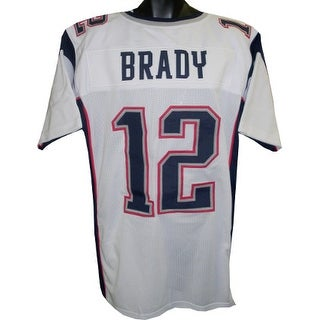 Tom Brady unsigned White Custom Stitched Pro Style Football Jersey XL