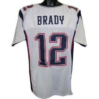 Tom Brady unsigned White Custom Stitched Pro Style Football Jersey XL