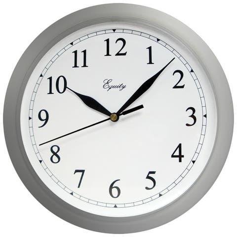 """Equity 25206 Quartz Wall Clock, 10"""""""