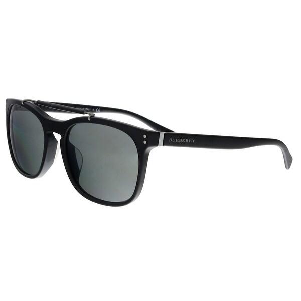 977308fab3c Burberry BE4244 34646G Matte Black Rectangular Sunglasses - No Size. Click  to Zoom