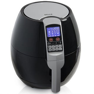 Della 1500W Multifunction Electric Air Fryer LED Display 8-Cooking Setting, Build-In Timer, Black