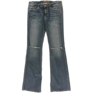 Joe's Jeans Womens The Vixen Flare Jeans Distressed Flare