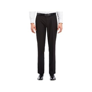 Kenneth Cole Reaction Mens Dress Pants Shadow Stripe Flat Front