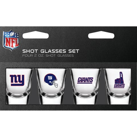 New York Giants Shot Glass 2oz 4 Pack