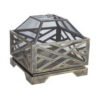 Fire Sense 62239 Catalano Square Fire Pit - Antique Bronze - N/A