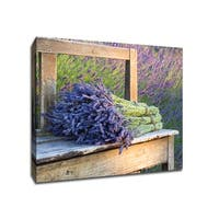 Bouquets of Lavendar - Flowers - 20x20 Gallery Wrapped Canvas Wall Art