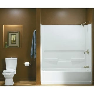 """Sterling 61031110 60"""" Bathtub for Three Wall Alcove Installation with Left-Hand Drain"""