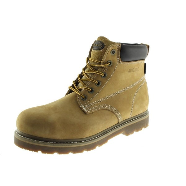 Work Boots Leather Steel Toe