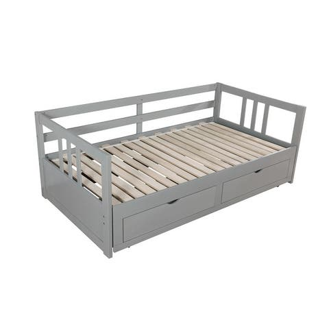 Furniture of America Abrielle Twin/King Expandable Storage Daybed