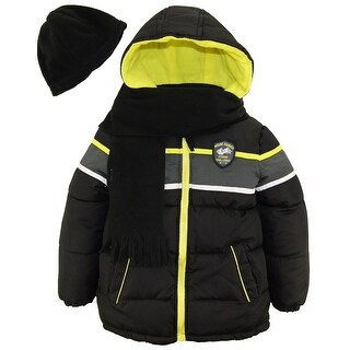Ixtreme Toddler Boys Expedition Puffer Winter Jacket Coat with Scarf and Hat