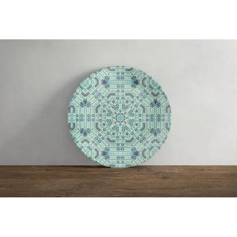 Amrita Sen Geostar Wreath Palace 10 in Decorative Microwave Safe Thermosaf Dinner Plate