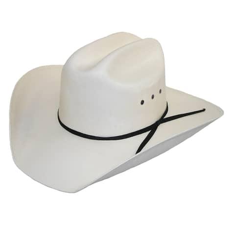 CTM® Men's White Canvas Cowboy Western Hat