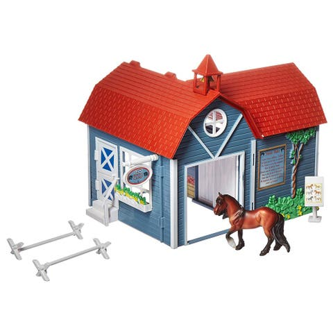 Breyer Stablemates Riding Camp Toy Horse 8 Piece Play Set w/ Horse 1 32 Scale