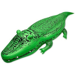 GoFloats Giant Alligator POOL FLOAT, 400 Pounds Raft-Grade Vinyl INFLATABLE POOL